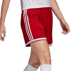 New Women's Adidas Red Athletic Shorts